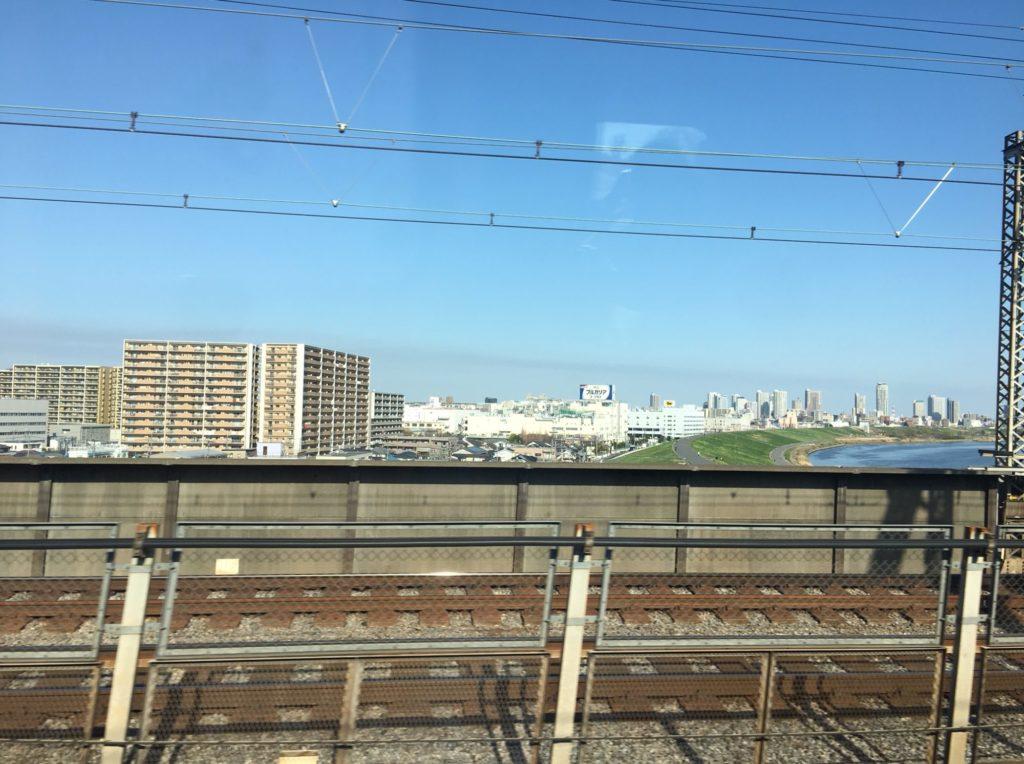 北陸新幹線からの車窓の風景
