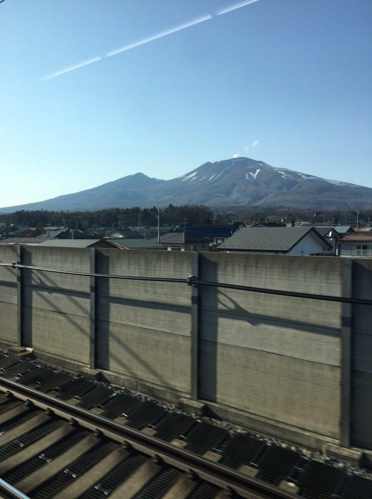 軽井沢あたりの車窓の風景