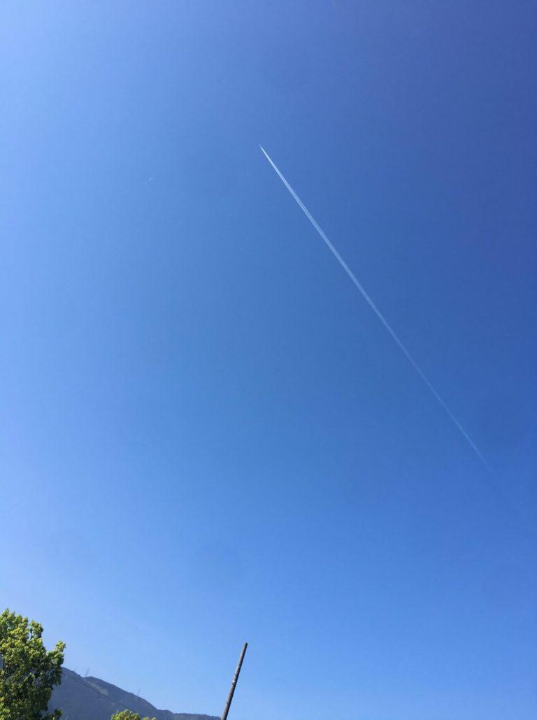 三島総合公園の飛行機雲