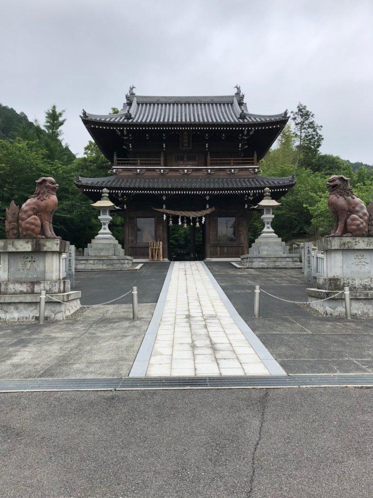 石鎚神社の第二駐車場から歩く