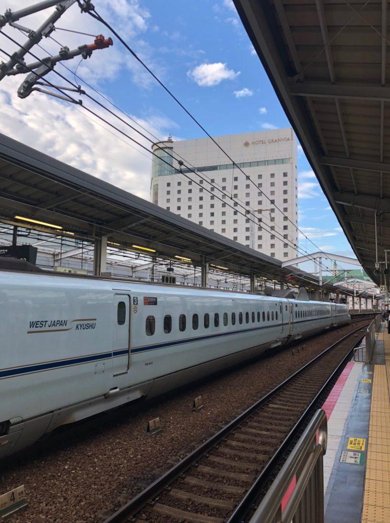 岡山駅の新幹線ホーム