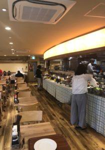 スーパーホテルLohas地下鉄四ツ橋線・本町24号口の食堂内