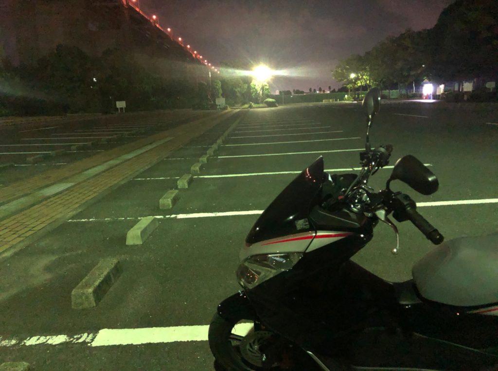 瀬戸大橋記念公園の駐車場