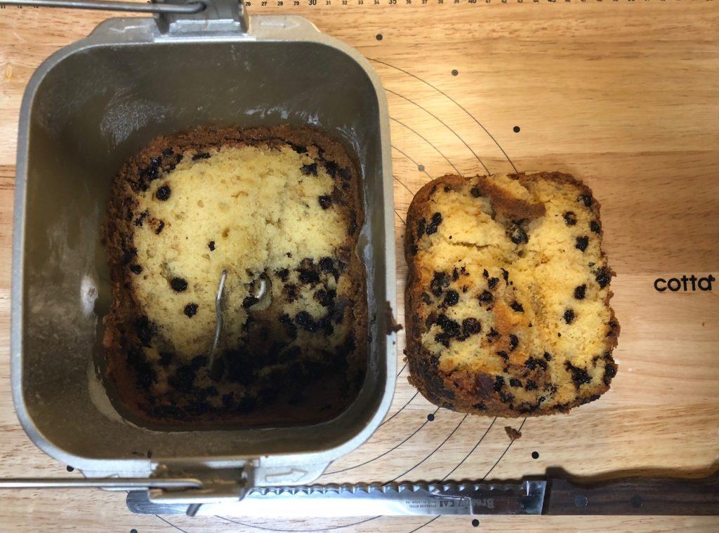 ホームベーカリーの悲惨なケーキ1