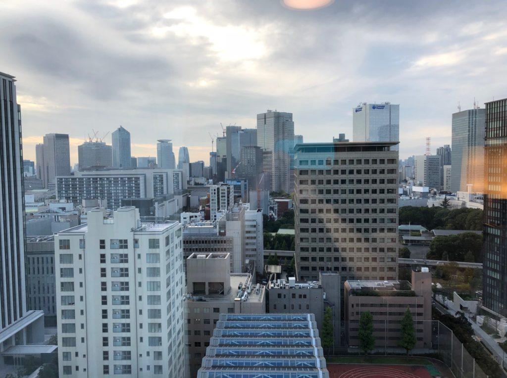 都市センターホテルの朝の風景