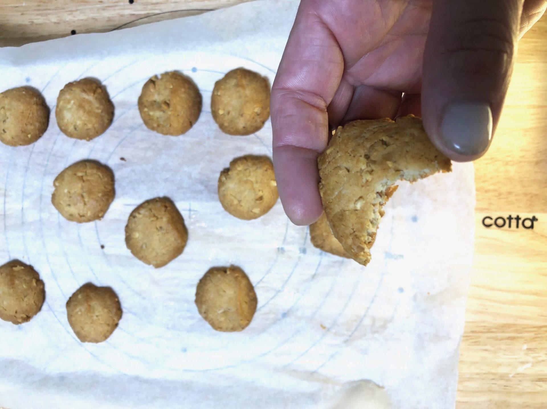ホットケーキミックス粉でクッキー完成