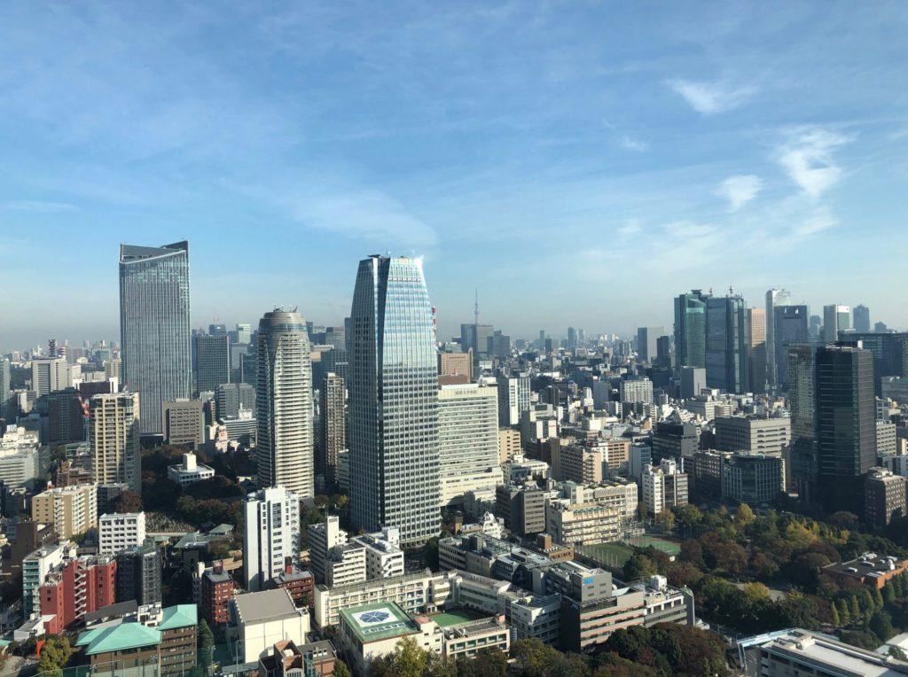 東京タワーから見た風景