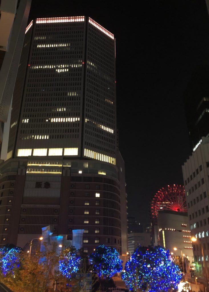 11月25日、夜の阪急百貨店