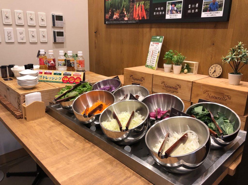 LOHAS赤坂のモーニングの生野菜