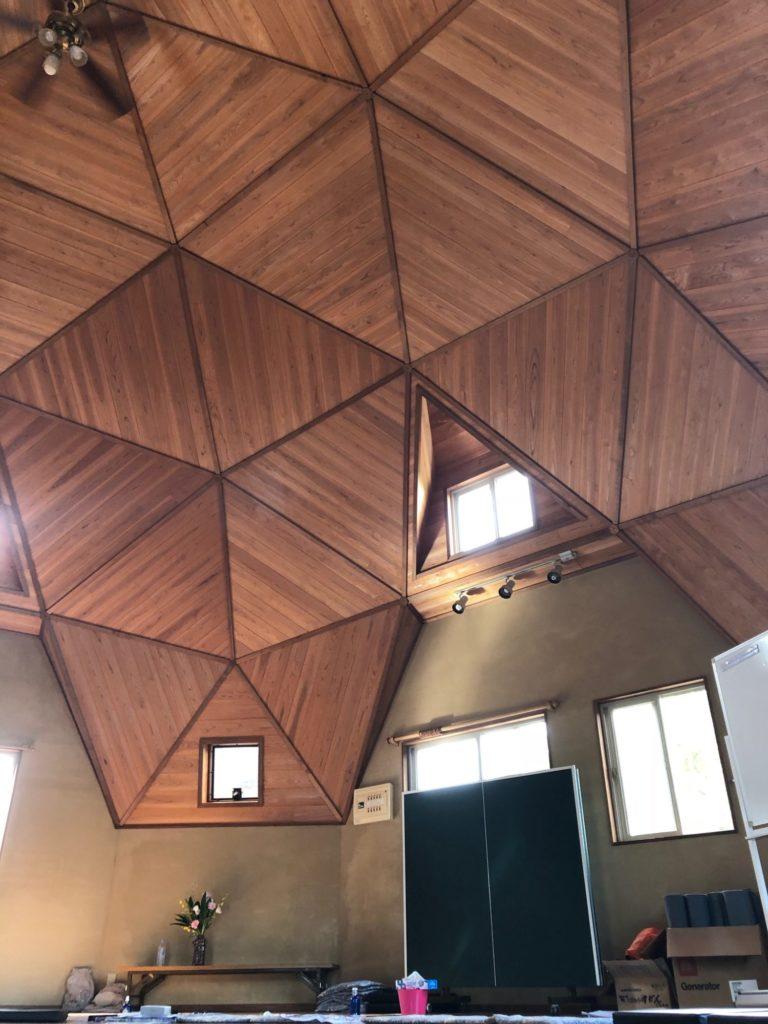 百姓屋敷わらのドームハウスの天井