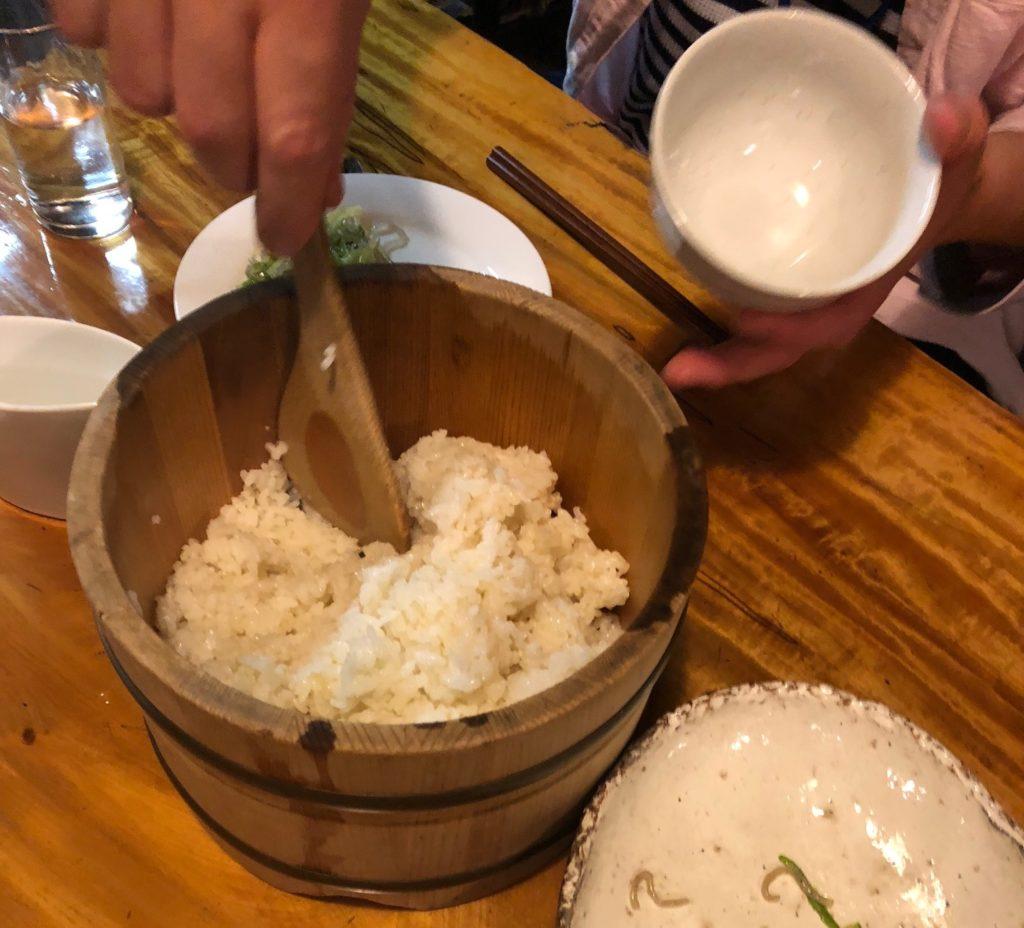 百姓屋敷わらの10月6日の玄米ご飯