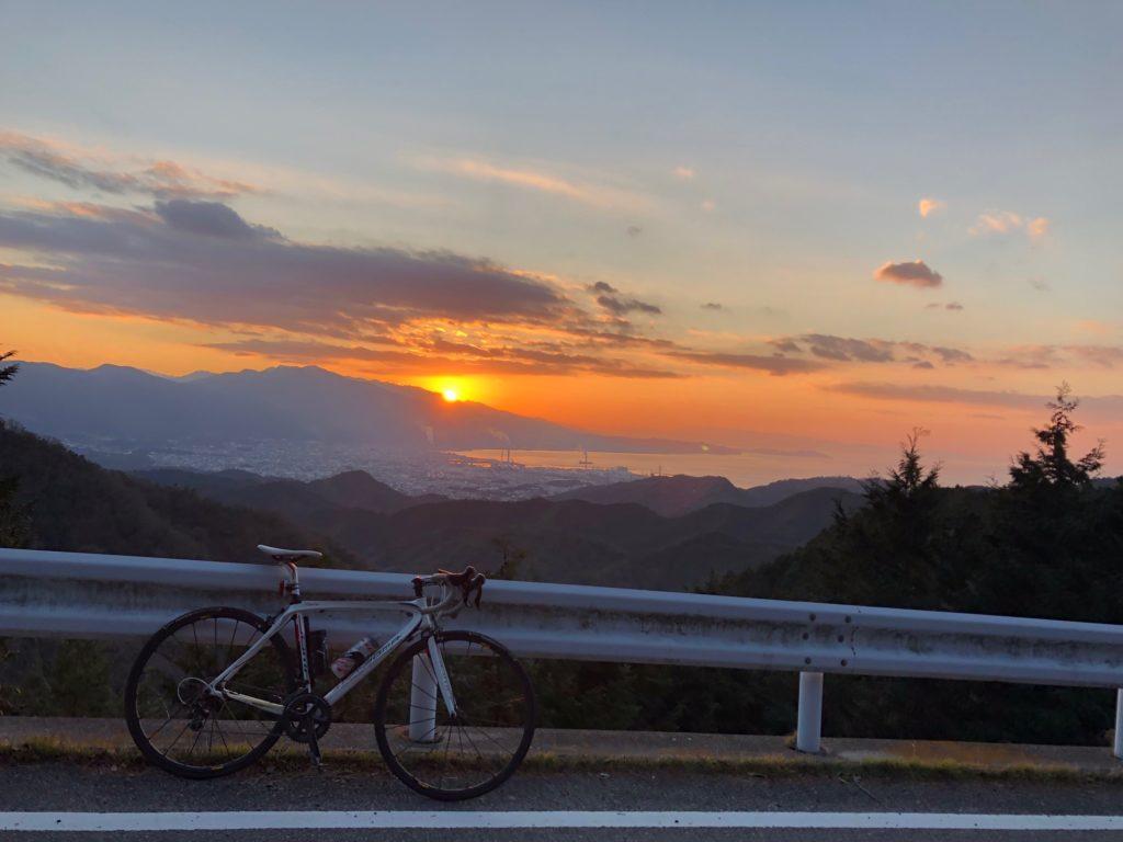 2019年1月3日の切山の夕焼け