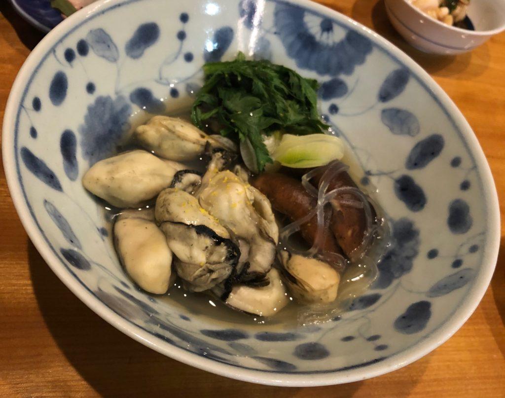 高松 天馬の牡蠣の酒蒸し