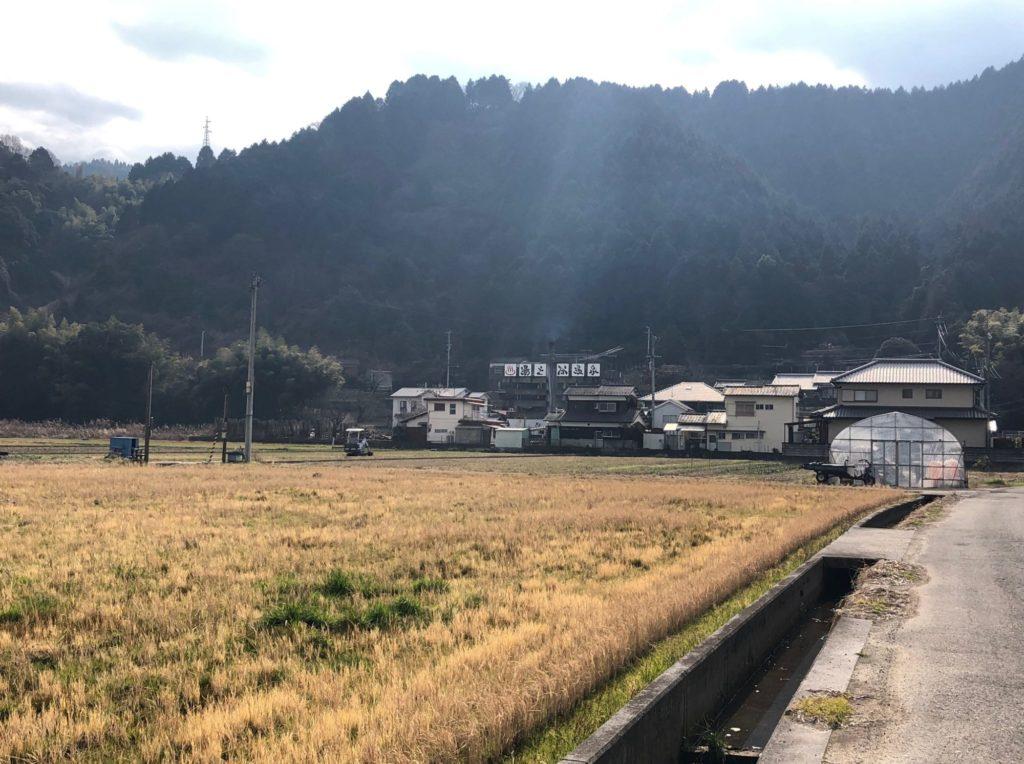 西条湯之谷温泉の遠景