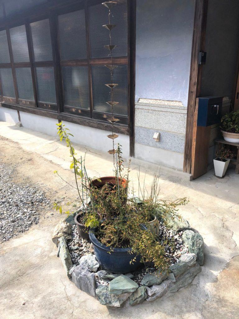 善通寺市のカフェ龝の実の庭園
