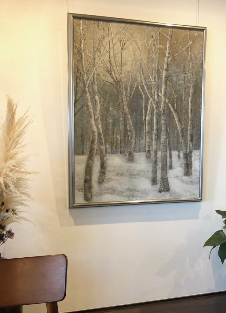 善通寺市のカフェ龝の実の絵画