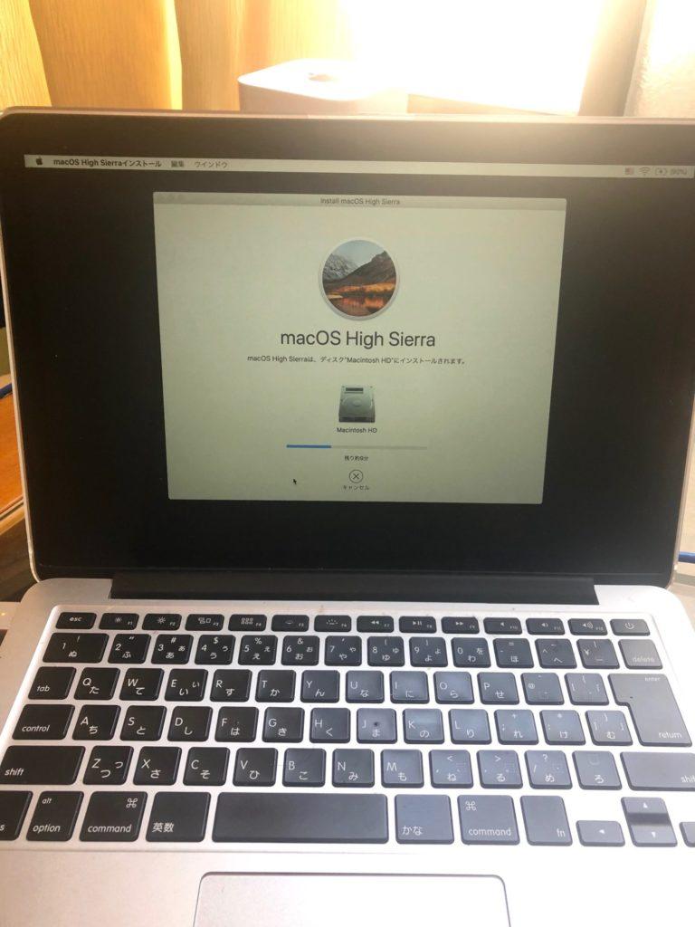 MacBook Proのインストール完了