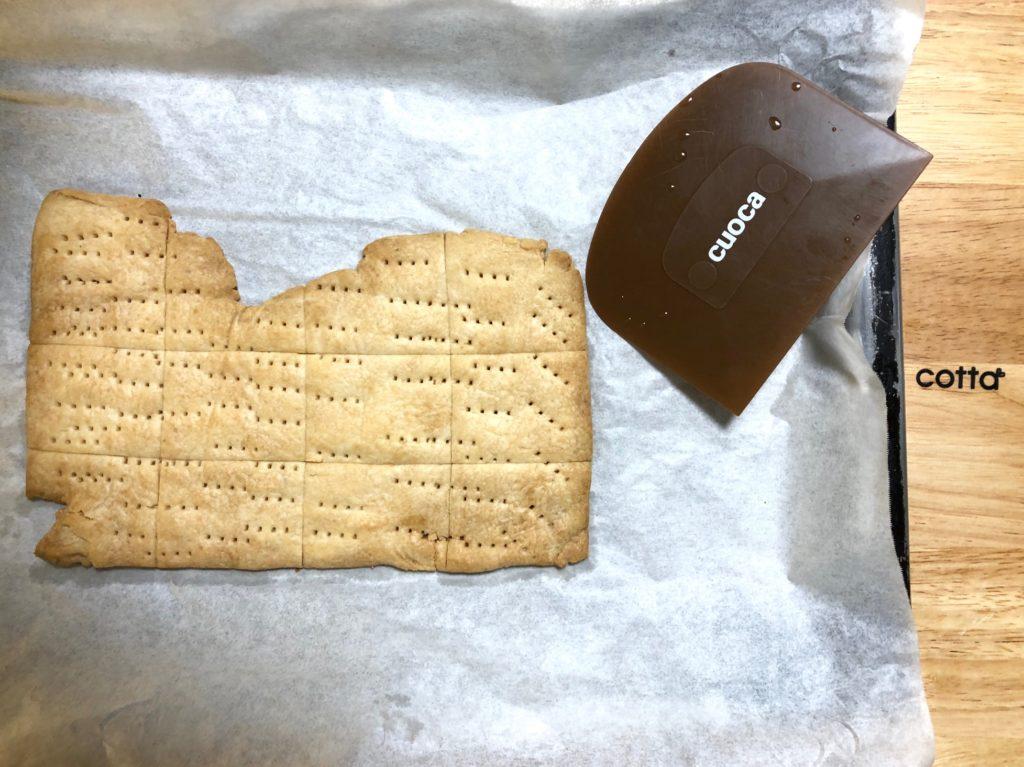 ポリ袋でつくるメープルの天板クーキー