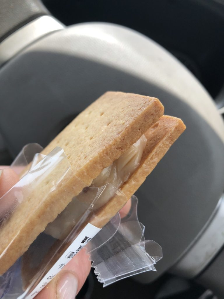 キャラメルサンドクッキー断面